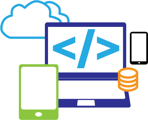 Commercial Software Development : Customsoftware icon zenware mobile web cloud and