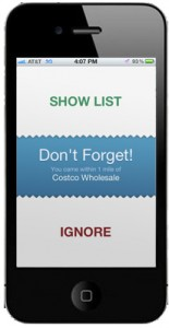 Don't Forget Your List - GPS based shopping list