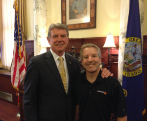 Cloud Services Clarification Act, CEO Jody Sedrick with Governor Butch Otter