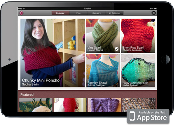 iPad knitting app created by Zenware