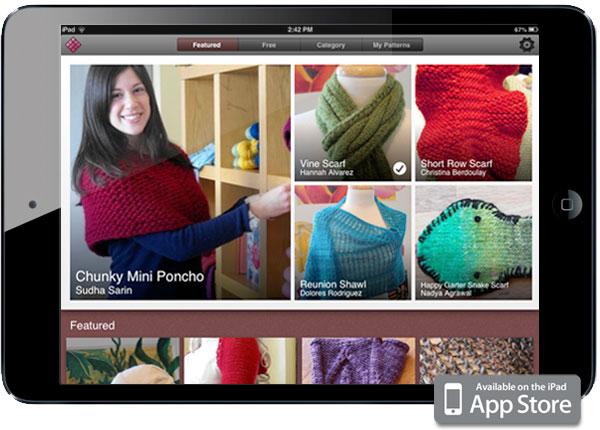 iPad knitting app created by Zenware