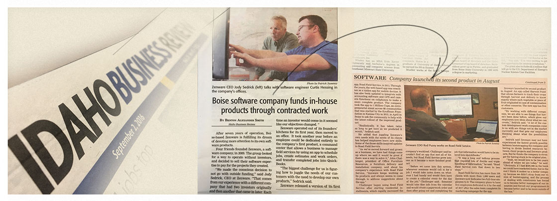 Zenware Featured in Idaho Business Review